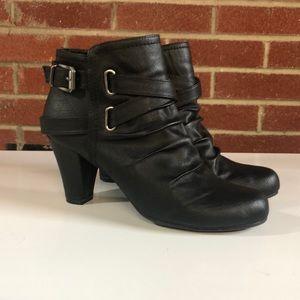 Fergalicious heeled booties